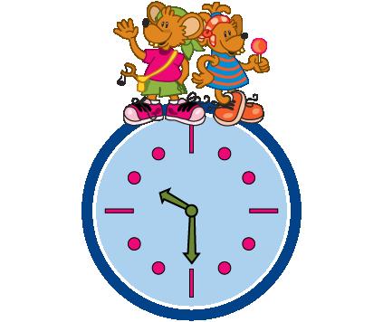Reloj ratonovich horario